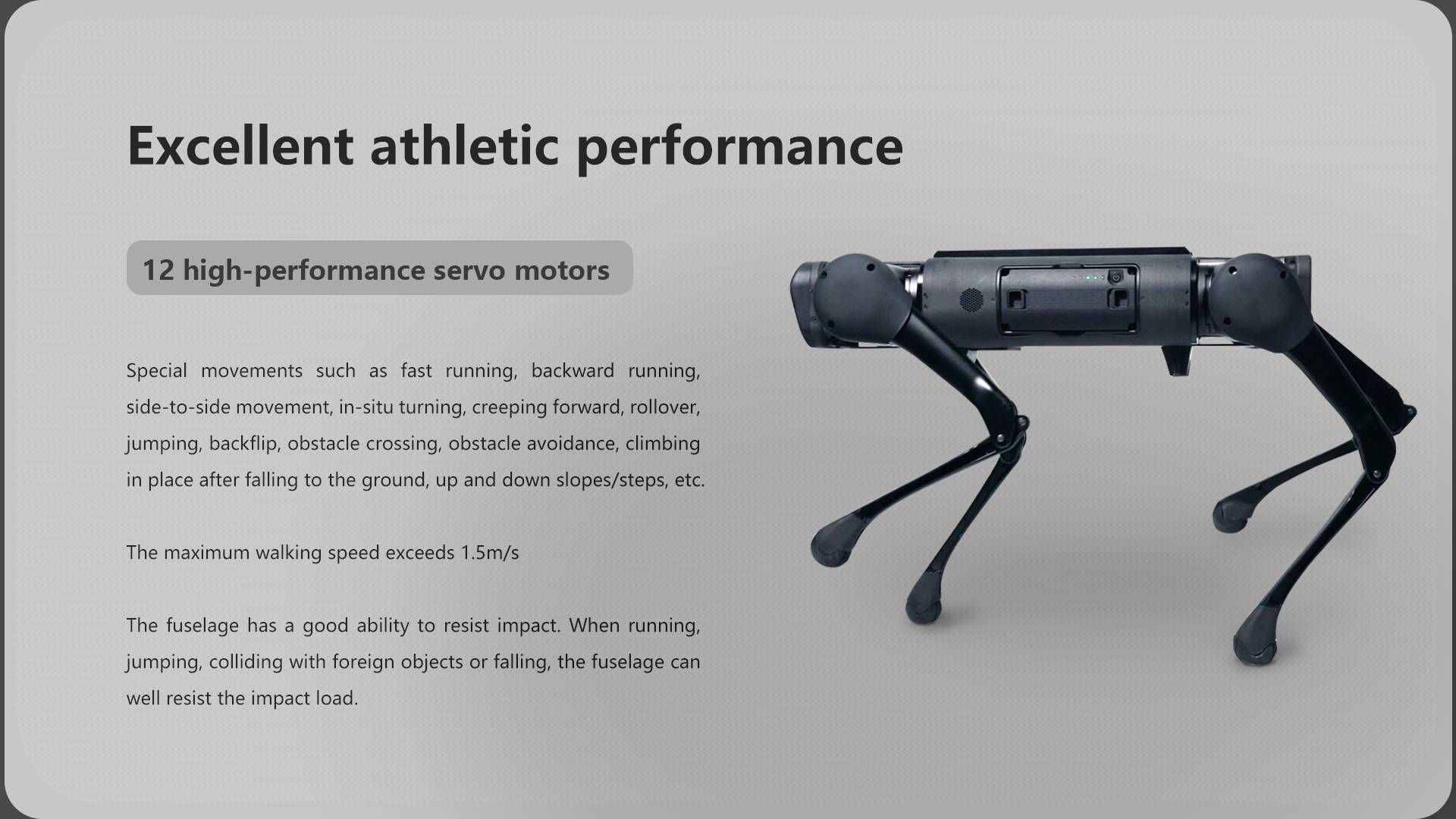 Excellent athletic performance